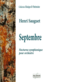 SEPTEMBRE - NOCTURNE SYMPHONIQUE POUR ORCHESTRE (CONDUCTEUR)