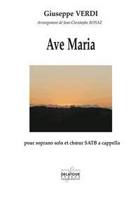 AVE MARIA POUR SOPRANO ET CHOEUR SATB A CAPPELLA