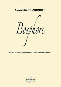 BOSPHORE POUR 2 BASSONS, ORCHESTRE A CORDES ET PERCUSSION (MATERIEL)