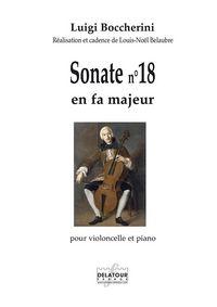 SONATE POUR VIOLONCELLE ET PIANO N 18