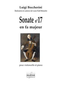 SONATE POUR VIOLONCELLE ET PIANO N 17