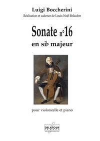 SONATE POUR VIOLONCELLE ET PIANO N 16