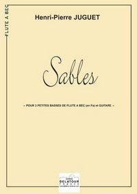 SABLES POUR 3 FLUTES A BEC BASSES EN FA ET GUITARE
