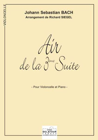 AIR DE LA 3EME SUITE ORCHESTRALE BWV 1068 POUR VIOLONCELLE ET PIANO