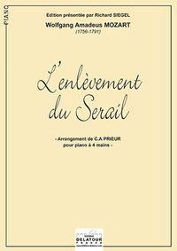L'ENLEVEMENT AU SERAIL K,384 POUR PIANO A 4 MAINS
