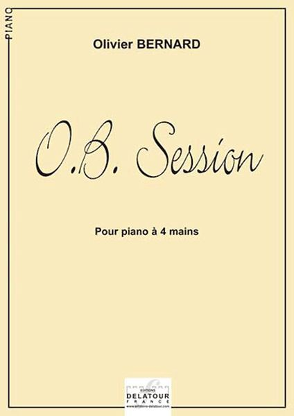 O.B. SESSION POUR PIANO A 4 MAINS