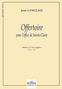 OFFERTOIRE POUR L'OFFICE DE SAINTE-CLAIRE (EDITION ECONOMIQUE)