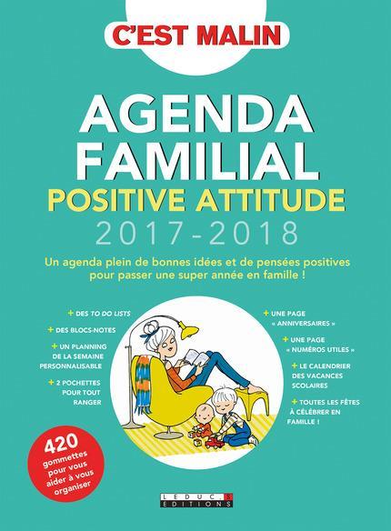 AGENDA FAMILIAL POSITIVE ATTITUDE 2017-2018