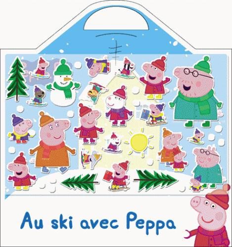 VALISETTE STICKERS MOUSSE AU SKI AVEC PEPPA
