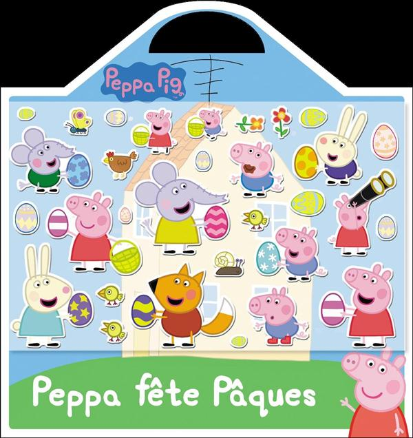 VALISETTE - STICKERS MOUSSE - PEPPA FETE PAQUES