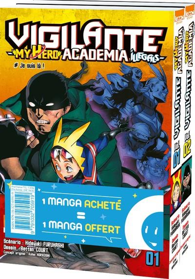 PACK OFFRE DECOUVERTE VIGILANTE - MY HERO ACADEMIA ILLEGALS T01 & T02
