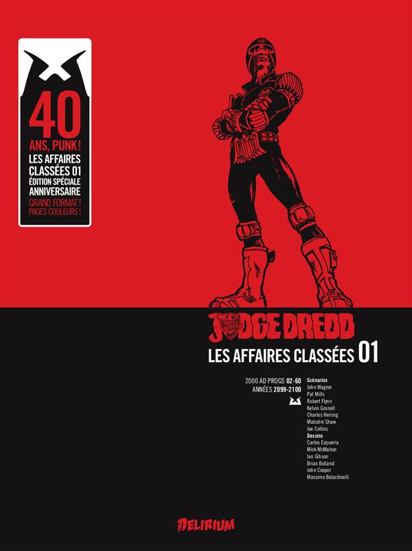 JUDGE DREDD, AFFAIRES CLASSEES 1