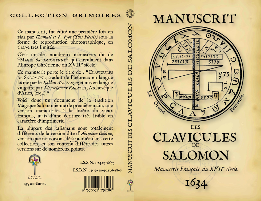 MANUSCRIT DES CLAVICULES DE SALOMON
