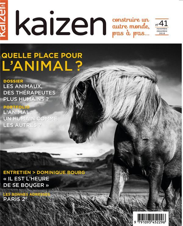 KAIZEN 41 : NOVEMBRE DECEMBRE 2018 - MEDIATION ANIMALE