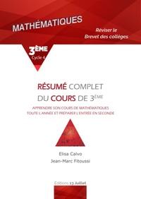 MATHS 3EME - RESUME COMPLET DU COURS DE 3EME - BREVET DES COLLEGES - TROISIEME