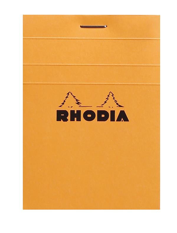 BLOC AGRAFE RHODIA ORANGE N 11 7,4X10,5CM 80F Q.5X5 80G