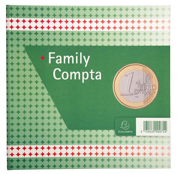 REGISTRE DE COMPTABILITE ET ORGANISATION FAMILIALE 25X25CM - FAMILY COMPTA 100 PAGES