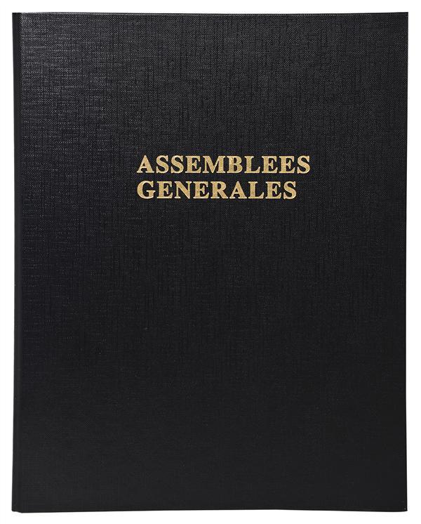 RELIURE REGISTRE 29,7X21CM 4 ANNEAUX AVEC RECHARGE (5419E) - DELIBERATIONS ASSEMBLEES GENERALES