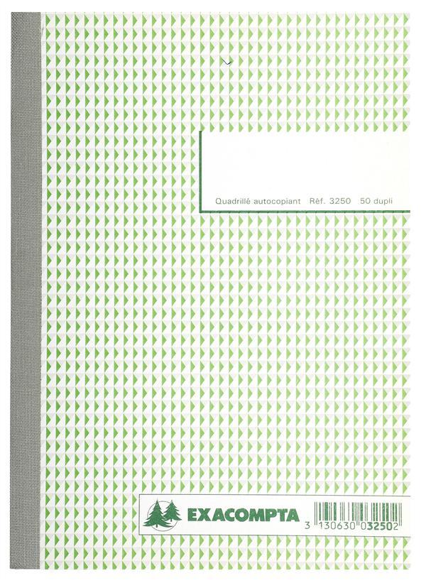 MANIFOLD QUADRILLE 5X5 - 50 FEUILLETS AUTOCOPIANTS - SOUS FILM PAR LOT DE 5