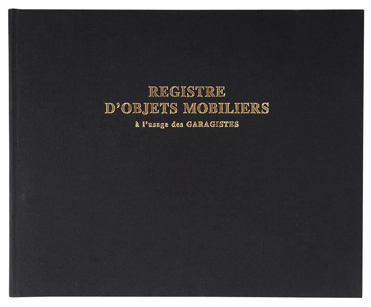 REGISTRE 24X32CM OBJETS MOBILIERS - SPECIAL GARAGISTES 100PAGES