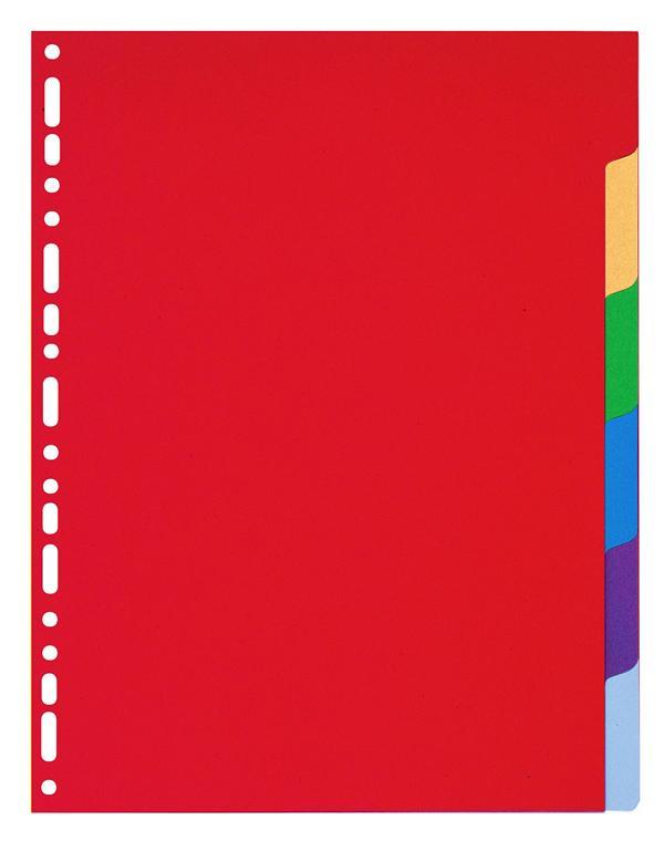 INTERCALAIRES POLYPROPYLENE SEMI RIGIDE 35X100E 6 POSITIONS - A4