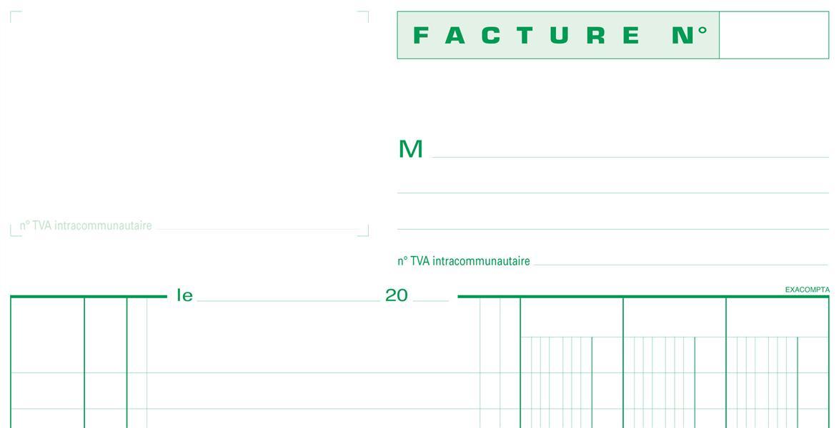 MANIFOLD FACTURES 29,7X21CM 50 FEUILLETS DUPLI AUTOCOPIANTS
