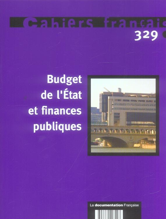 BUDGET DE L'ETAT ET FINANCES PUBLIQUES N 329