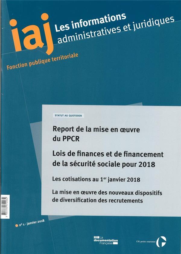 IAJ 01-2018-REPORT DE LA MISE EN OEUVRE DU PPCR