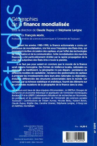 GEOGRAPHIES DE LA FINANCE MONDIALISEE N 5299