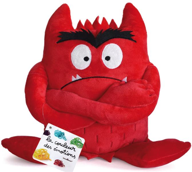 PELUCHE ROUGE COULEUR EMOTIONS  COLERE
