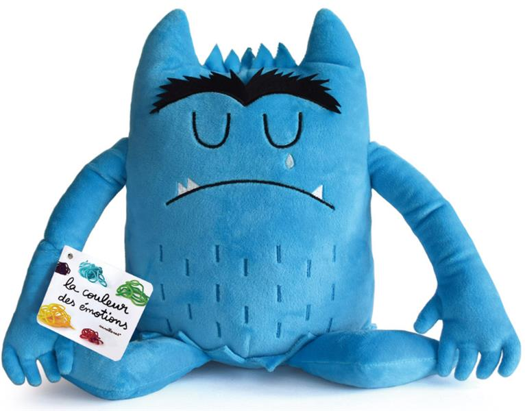 PELUCHE BLEUE COULEUR EMOTIONS TRISTESSE