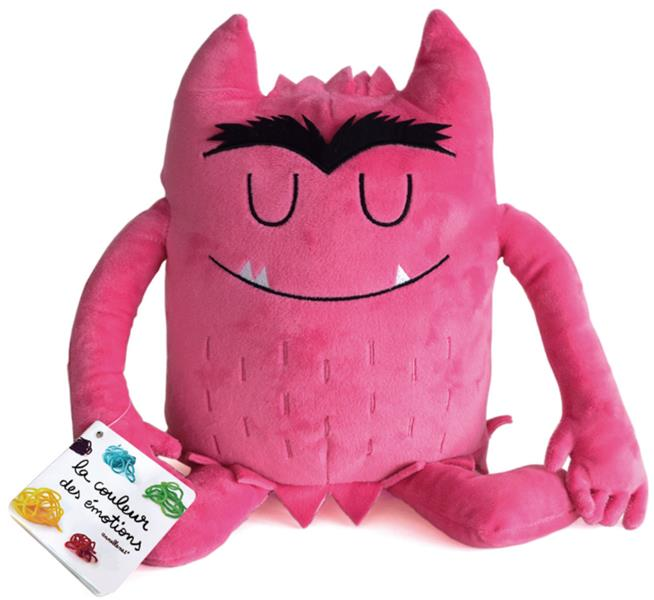 PELUCHE ROSE COULEUR EMOTIONS  HEUREUX TOURNIQUET MR ET MME