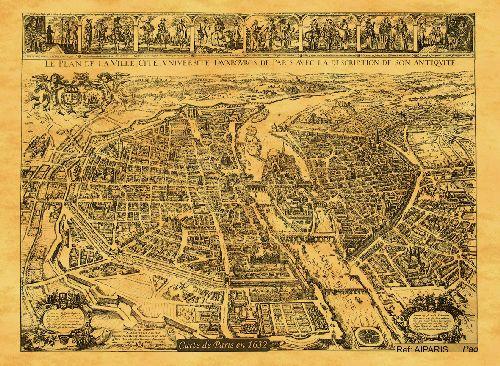 PARIS EN 1632 50 CM X 38 CM