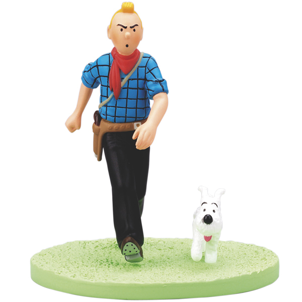 COFFRET SCENE TINTIN COW BOY