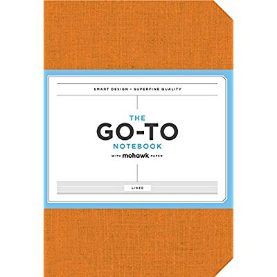 GO-TO NOTEBOOK WITH MOHAWK PAPER, PERSIMMON ORANGE LINED