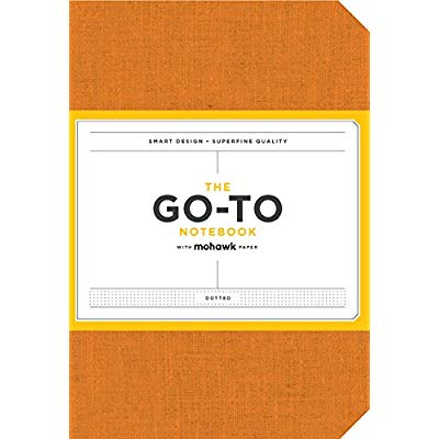 GO-TO NOTEBOOK WITH MOHAWK PAPER, PERSIMMON ORANGE DOTTED
