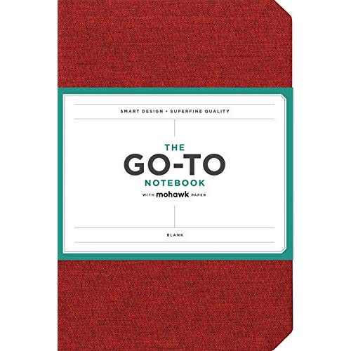 GO-TO NOTEBOOK WITH MOHAWK PAPER, BRICK RED, BLANK