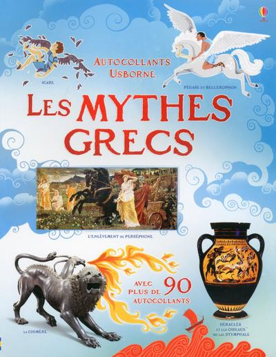 LES MYTHES GRECS - DOCUMENTAIRE EN AUTOCOLLANTS