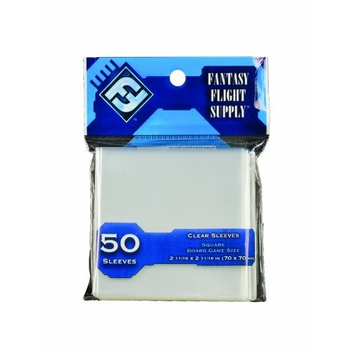 BOARD GAME SLEEVES : SQUARE - CLEAR/CLEAR (50 PCS)