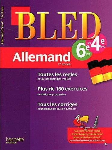 CAHIER BLED - ALLEMAND 1RE ANNEE