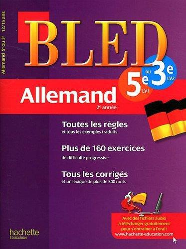 CAHIER BLED - ALLEMAND 2E ANNEE