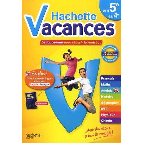 HACHETTE VACANCES DE LA 5E A LA 4E