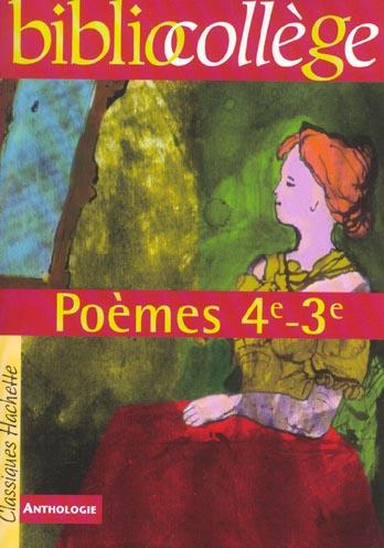 BIBLIOCOLLEGE - POEMES 4E - 3E