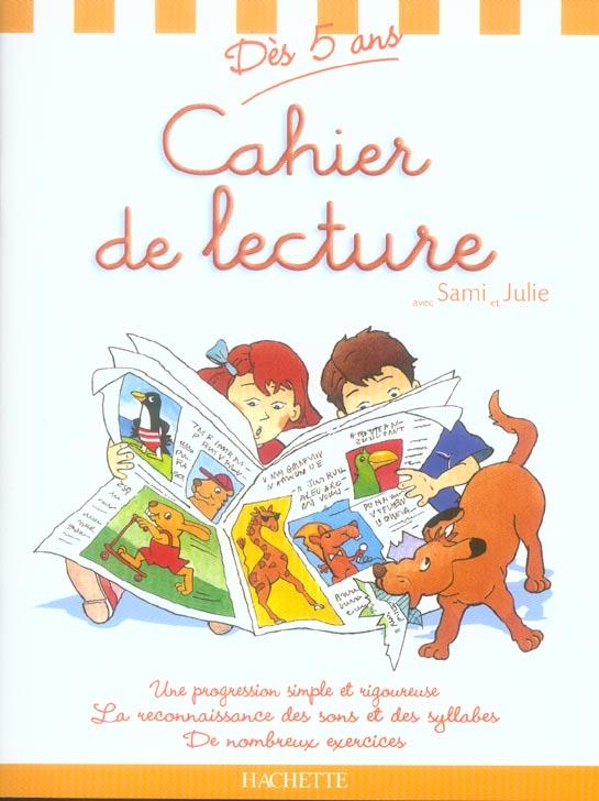 CAHIER DE LECTURE SAMI ET JULIE - DES 5 ANS