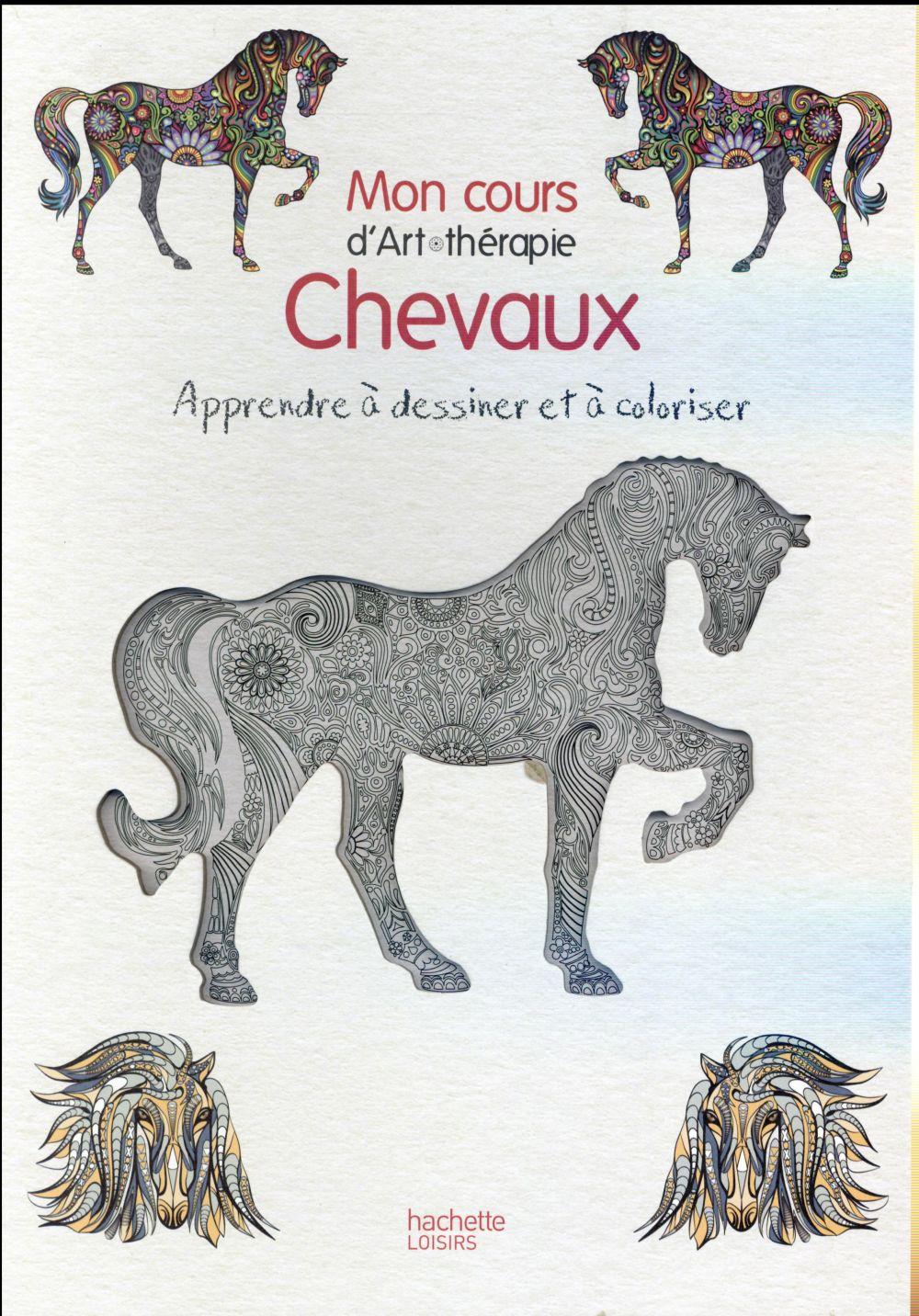 CHEVAUX - APPRENDRE A DESSINER ET A COLORIER !