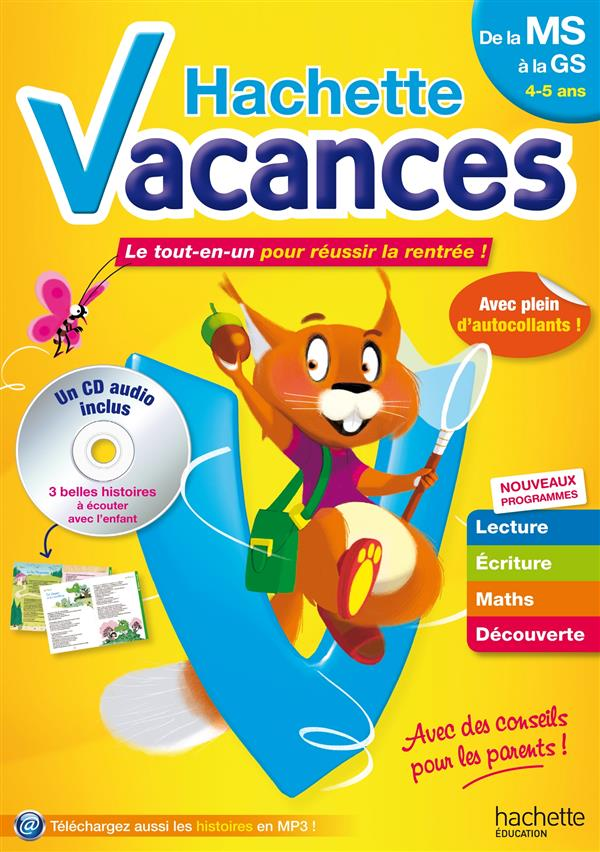 HACHETTE VACANCES - DE MS A GS 4/5 ANS