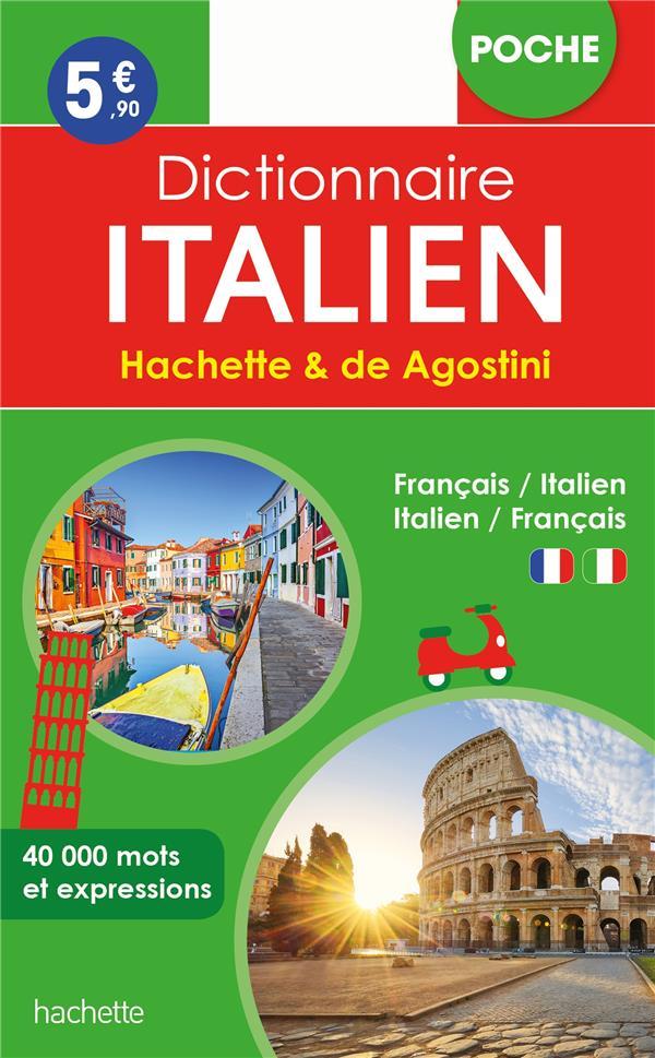 DICTIONNAIRE POCHE HACHETTE DE AGOSTINI - BILINGUE ITALIEN