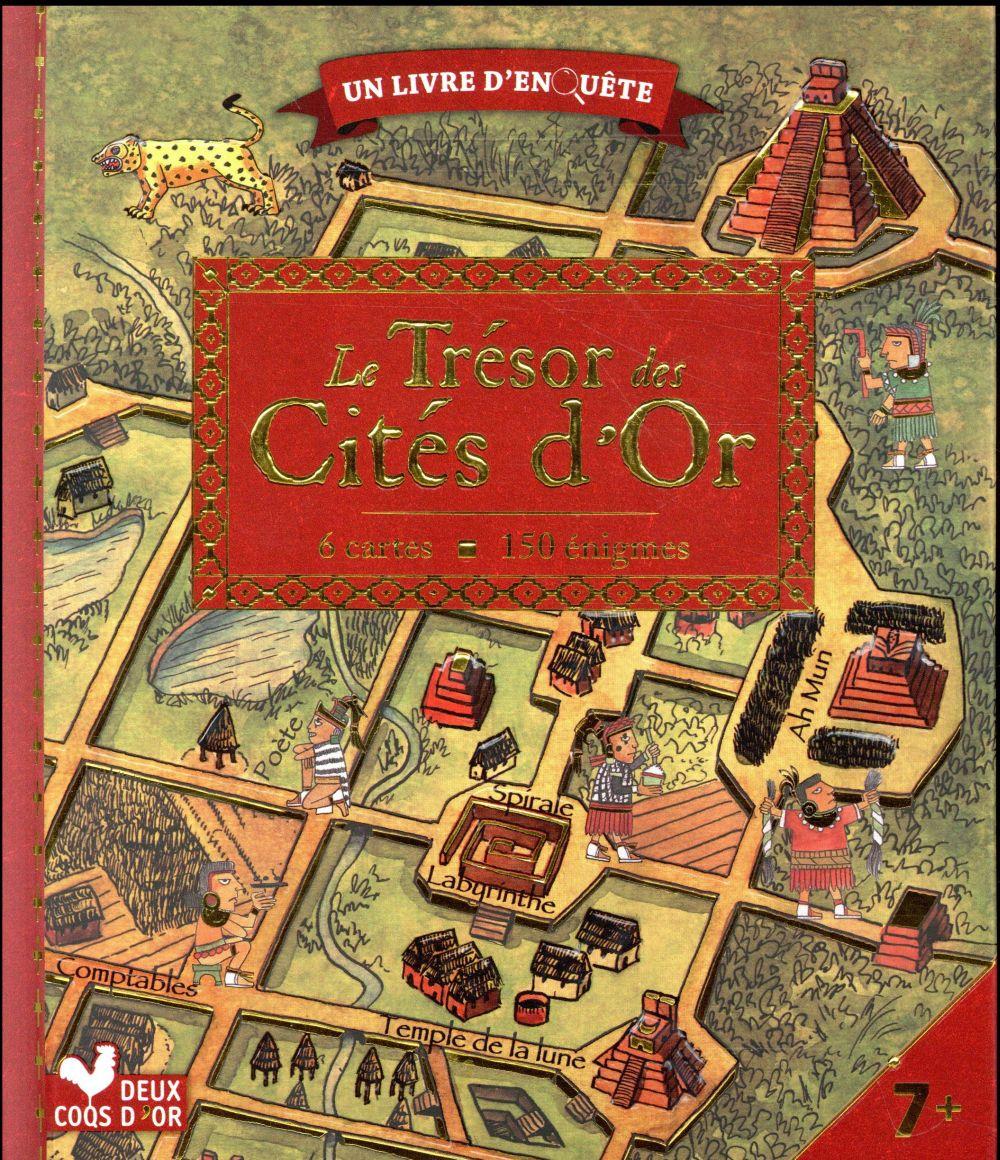LE TRESOR DES CITES D'OR - LIVRE AVEC CARTES ET LOUPE