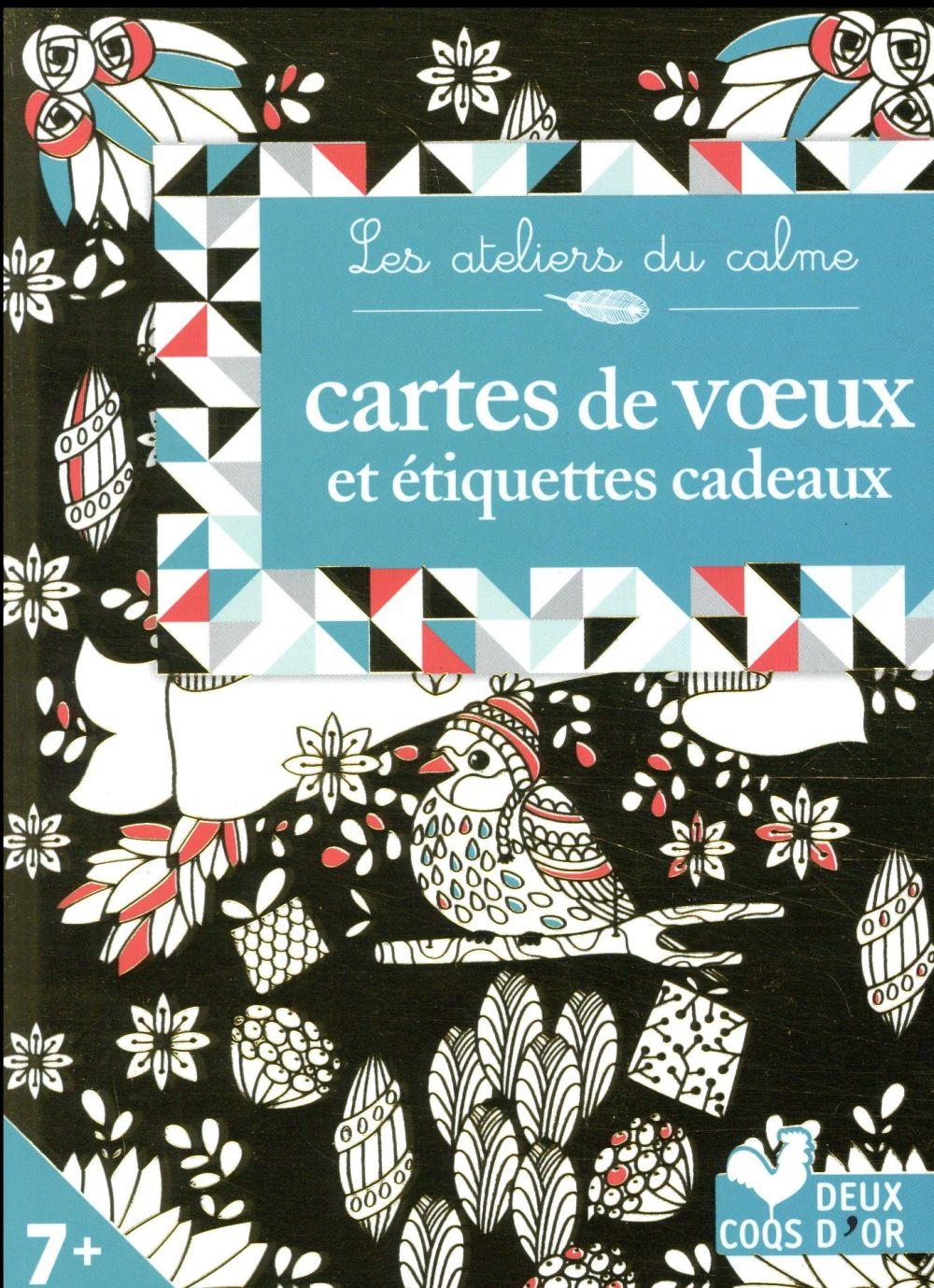 CARTES DE VOEUX A COLORIER