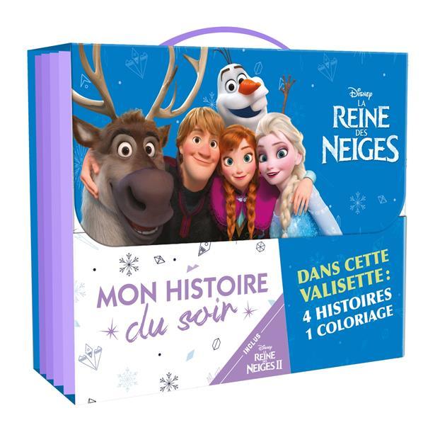 LA REINE DES NEIGES 2 - VALISETTE DE RENTREE MON HISTOIRE DU SOIR - DISNEY - 4 HISTOIRES ET 1 COLORI